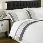 Paoletti Mombassa Cotton Percale 200 Thread Count Embellished Duvet Cover Set, W