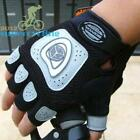 NEW BMX Motorcycle Cycling Bike Bicycle Half Finger Silicone Gloves M-XL Black