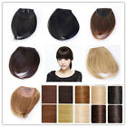UK popular Brown blonde white Synthetic Clip In Bang Fringe Hair Extension wm