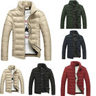 Fashion Men's Winter Casual Natural Thick Padded Cotton Warm Down Coat Outerwear