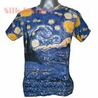 VINCENT VAN GOGH Starry Night Star Moon Sky MEN T SHIRT TOP FINE ART PRINT *