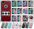 Apple iPhone 5 5S SE TUFF MERGE HYBRID Case Protector Skin Phone Cover Accessory