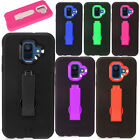 For Verizon LG Optimus Zone 2 Hybrid Silicone Skin Hard Case Cover +Screen Guard