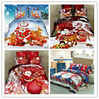 Santa Claus Duvet Doona Quilt Cover Set Single Queen King Size Bed New Christmas