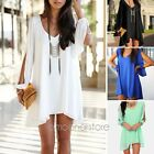 Sexy Women Summer Casual Sleeveless Party Evening Cocktail Short Mini Dress Tops
