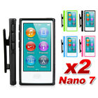 Premium Belt Clip Soft Gel TPU Case Cover for Apple iPod nano 7 7th