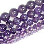"Natural Purple Amethyst Round Gemstone Spacer Beads 15.5"" 4mm 6mm 8mm 10mm 12mm"