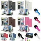 Color Wallet Card Holder Leather Case+Dust Cap Pen+Sticker For iPhone 6 4.7""