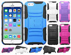 For Apple iPhone 6 4.7 HYBRID KICKSTAND Hard Rubber Silicone Case Phone Cover