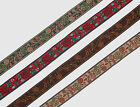 "01 Yd Jacquard Trim 0.59"" wide Woven Border Sew Embroidered Ribbon Lace T870"