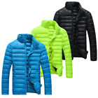 Autumn Winter New Men Cotton Down Jacket Casual Thin Warm Padded Coat Parka