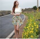 Brand New Pleated Package Hip Chiffon Floral Invisible Zipper Bust Skirt CAWB
