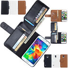 Leather Case Cover Card Holder Flip Wallet For Samsung Galaxy / Apple iPhone