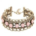 Fashion Multilayer Mix Color Beaded Alloy Boho Friendship Bracelet Chain Bangle