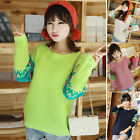 Sweet College Style Lady Girls Loose Soft Pullover Knitting Sweater Tops Outwear