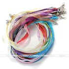 10pc Organza Voile String Ribbon Cord Necklace Lobster Clasp For Jewelry Finding