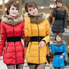 Winter Women's Down Jacket Long Coat Hooded Winter Big Fur Collar Warm Outerwear