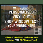 PERSONALISED DESIGN YOUR OWN WINDOW STICKER- Vinyl Cut Text /  Words