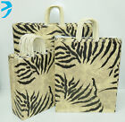 25x PAPER CARRIER BAG TWISTED HANDLE HIGH QUALITY GIFT BOUTIQUE BAGS BROWN ZEBRA