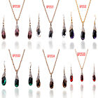 In 6 Color  Women 14k Gold Filled Austrian Crystal Necklace Earrings Set