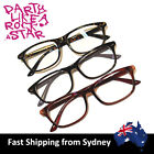 Clear Lens Costume Reading Glasses Optical Frame Square Fashion Black Brown