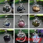 Punk Dragon Claw Wrap Ball Jasper Gemstone Bead Quartz Pendant For Necklace