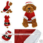 1pc Christmas Dogs Pet Xmas Santa Claus Jumper Coat Jacket Clothes Hoodie Gift