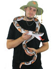 RUBBER SNAKE 6FT LONG PYTHON HALLOWEEN PARTY PROP JUNGLE FANCY DRESS DECORATION