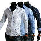 Mens Luxury Stylish Slim Fit Long Sleeve Casual Dress Shirts T-Shirts Tops 79100
