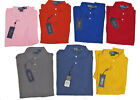 Ralph Lauren Mens Custom Fit Mesh Short Sleeve Solid Casual Polo Rugby Shirt New
