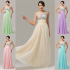 Charming Long Bridal Bridesmaid Prom Dresses Celeb Pageant Party Evening Gown GK