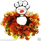 Halloween Dog Collar - Smoocher All Sizes - Elastic Neck -Orange & Black Costume