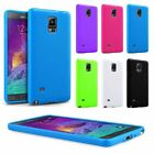 Soft TPU Jelly Rubber Gel Back Case Cover Skin Shell For Samsung Galaxy Note 4