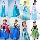 2015 Frozen Princess Girls Elsa Anna Cosplay Clothes Make Up Party Fancy Dresses