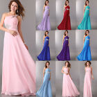 ❤Burst Sells❤ Long One Shoulder Bridesmaid Formal Party Gown Prom Evening Dress