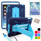 PEN + Shockproof Military Duty Rubber Stand Hard Case Cover For Apple iPad 5 air