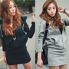 Women Preppy Angel Wings Print Jumper Hoodie Sweater Long Sleeve Mini Dress -LJ