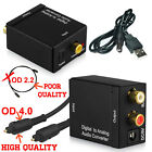 Toslink Digital Coax to Analog Audio Adapter Converter Optical Coaxial RCA L/R