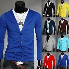 Men Casaul Long Sleeve Knitwear V-neck Cardigan Coat Jacket Outerwear M L XL XXL