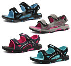 Dunlop Black Pu Nubuck 2 Bar Velcro Womens Sports Sandals ALL SIZES AND COLOURS