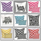 100% Cotton Decorative Trendy Chevron & Animal Design Cushion Cover pillowcase