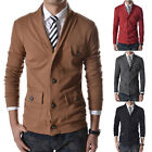 TOP 2014 Stylish Coats Men's Slim Fit Causal Thin Single Breasted Jacket Outwear