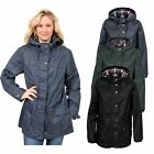 Trespass RUBYWAX Womens Ladies Wax Effect Jacket Hooded Casual Winter Coat