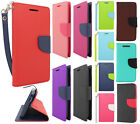 For HTC Desire 510 Leather 2 Tone Wallet Case Pouch Flip Cover + Screen Guard