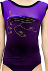girls sleeveless gymnastic dance leotard odettedancesport 'purple MAZE'