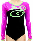 girls longsleeve gymnastic dance leotard odettedancesport 'HEART2HEART'