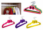 5/10 Clothes Hanger Velvet Non-Slip Thin Clothing Space Save Bow Shaped Closet