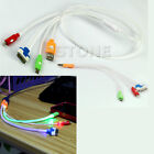 3in1 LED Light USB Sync Data Charger Cable For iPhone 5 4S 5S HTC Samsung