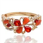 In 5 Color Women 18K Gold Plated Austrian Crystal Bangle & Bracelet Jewelry