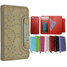 For iphone 5 5G 5S Magnetic Diamonds Cover Flip Leather Wallet Card Slot Case